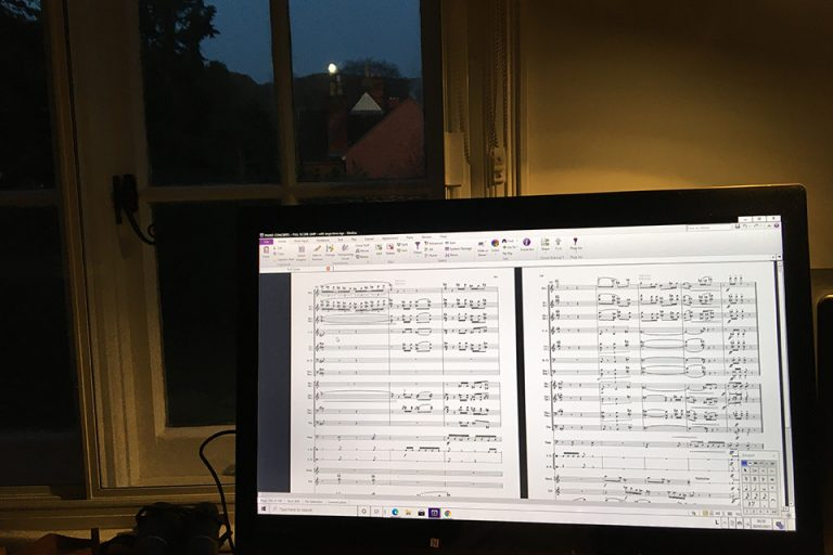 composing on PC by moonlight